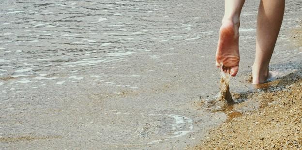 Photos: 砂浜にて