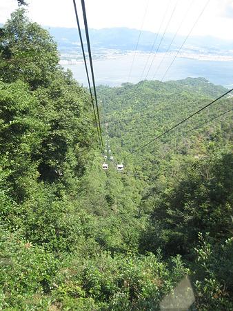 100815 弥山へのロープウェイ