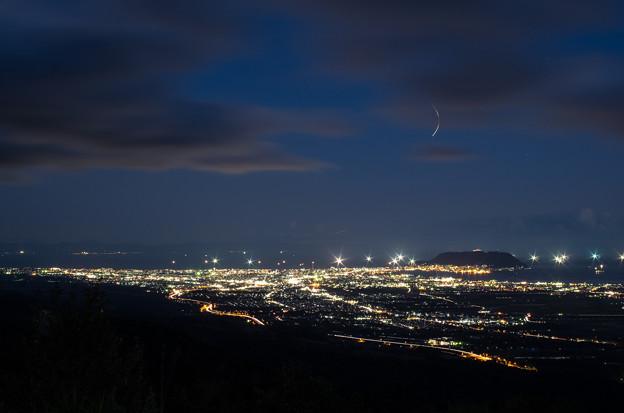 漁火と函館夜景