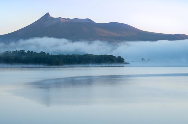 朝霧と駒ヶ岳