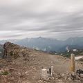 白馬岳山頂から剱岳