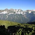 写真: 100722-65蝶ヶ岳山頂付近から(2/3)