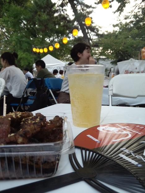 鳥飼八幡宮秋祭り来た。黒豚ヒレトロ美味ー!