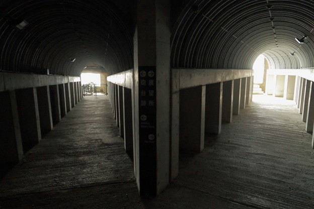 豊予要塞・御籠島洞窟式砲台跡通路