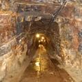 写真: 尾去沢鉱山 坑道内部2