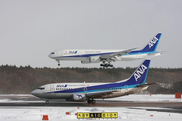 ANA B737-500+B777