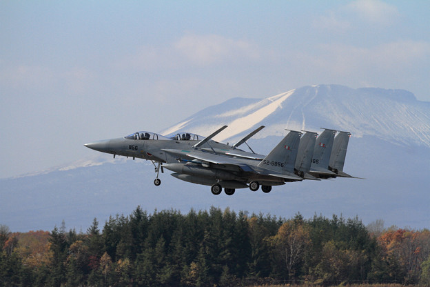F-15J 203sq Formation landing