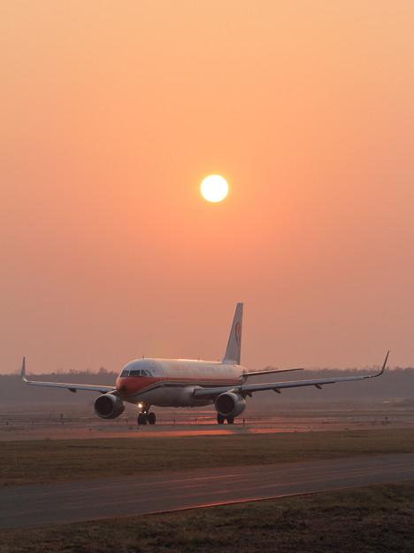 A320 CES 夕陽