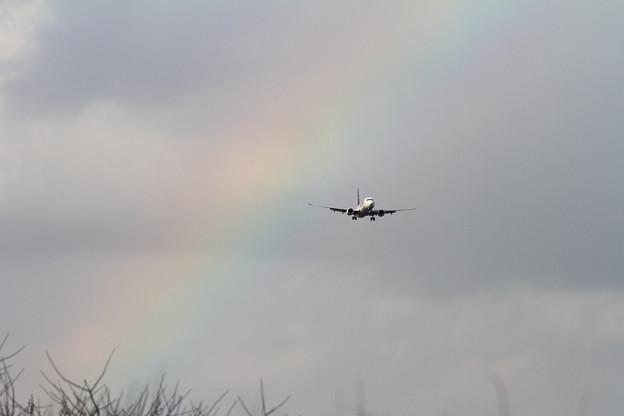 B737 時雨が去って虹が