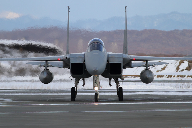 F-15J 802 帰投 (1)
