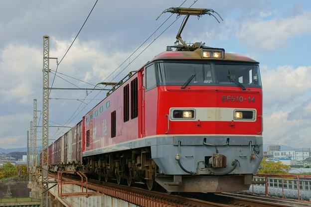写真: 83レ【EF510-14牽引】