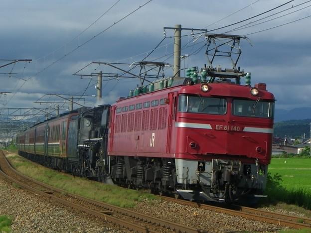 EF81 140+C57 180+12系7B「ばんえつ物語」 SL山形DC架け橋号返却回送