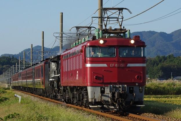 "EF81 151+C57 180+12系(""SLばんえつ物語"") SL日本海庄内号返却回送"