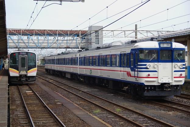 E129系A2編成&115系N37編成(一次新潟色)