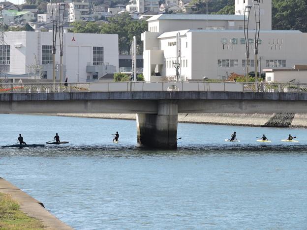 カヌー練習中