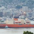 写真: 南極観測船しらせ出港 4