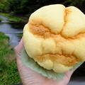 毘沙門橋にてメロンパン