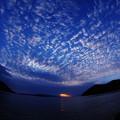 夕陽のジェット噴射