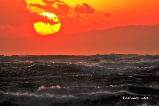 Photos: 荒れる夕焼け