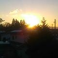 写真: 太陽が出てきた~(^∀^)ノ今日も良い天気で~す♪これからゴミ出しに行...