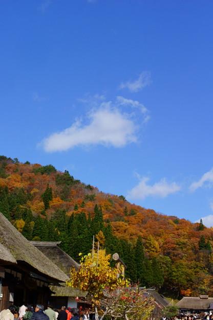 秋の大内宿