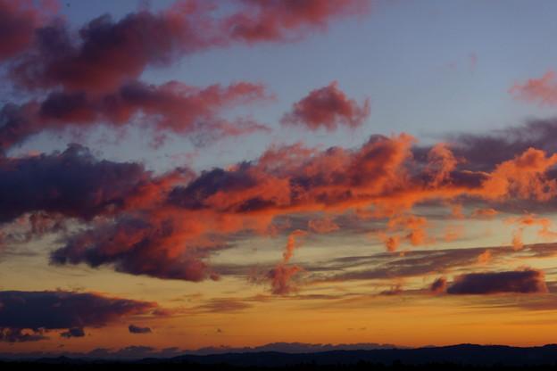 朝焼け雲と~