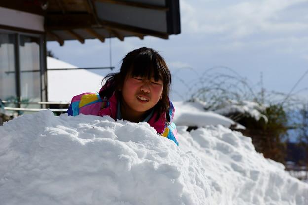 雪だるま作ってます~(^^ゞ