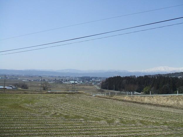 会津盆地の春