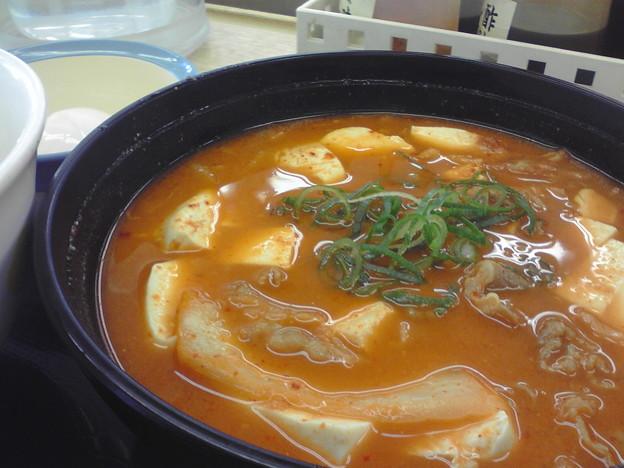 松屋でチゲ定食なう!(^O^)