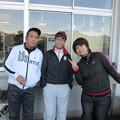 写真: 足利カントリークラブBクラスラストコール杯に参加したアシカンファミリーの隆さん、ダイワマン、T妻さん、2014.12.21