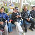写真: 足利カントリークラブBクラス新年杯に参加したアシカンファミリーの宮くん、ダイワマン、隆さん、雅さん2015.1.11