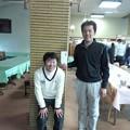 写真: 足利カントリークラブAクラス新年杯競技のアシカンファミリーのマサルくんと5位入賞の任さん2015.1.18