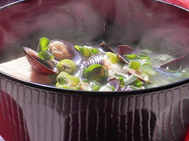 肝臓に優しいオルニチンがたっぷり~シジミの味噌汁~