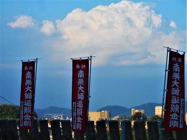 ズッシリ浮かんだ白い雲@尾道・福善寺の積乱雲