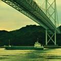 Photos: 布刈の瀬戸をゆく@しまなみ海道・因島大橋
