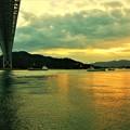 布刈の瀬戸の夕暮れ@しまなみ海道・因島大橋