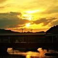 写真: 絶景の夕景