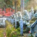 写真: 境内の紅葉と五百羅漢と菩薩さま@古刹・佛通寺