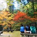 写真: 晩秋の旅人たち@錦秋の佛通寺