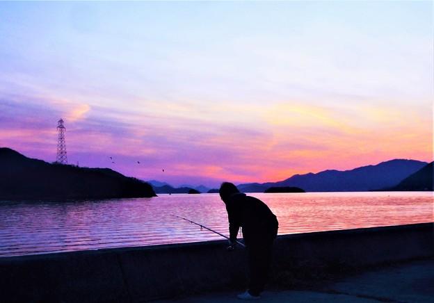 写真: 師走の釣り人@大晦日前の瀬戸内海