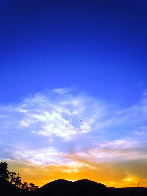 峠の夕景~トラネコ雲の鼻にホクロ~