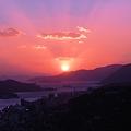 初冬の落日 in 瑠璃山