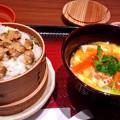 大戸屋 ( 成増 )  あさりのせいろご飯と 手創り豆腐のとろとろ煮