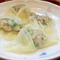 Photos: ぼにしも ( 練馬 = ラーメン )  皿えびワンタン ( 茹で )