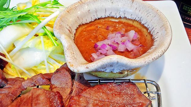 大戸屋 ( 成増 )  牛たん定食 ( ピリ辛味噌だれ )