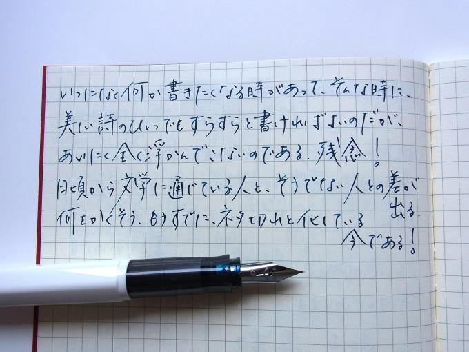 ダイソー100円ノートにKWZ Ink IG Turquoiseで(Day Version)