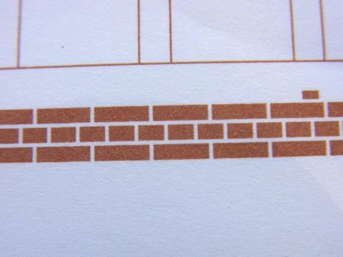 飾り原稿用紙 港煉瓦 - 煉瓦模様