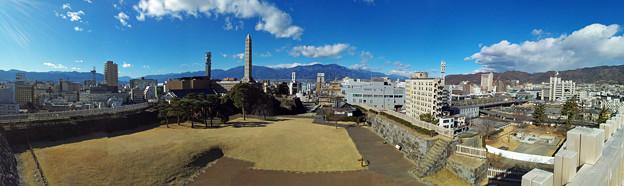 甲府城天守台からの眺望