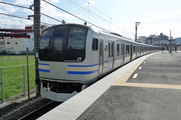 横須賀線E217系@久里浜駅