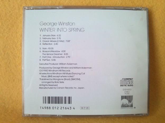 ジョージ ウィンストン Winter Into Spring CD